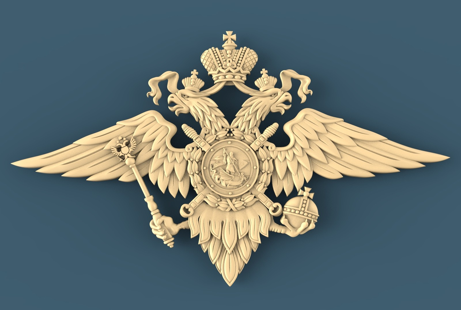 CNC A024 (Russian coat of arms) 3D STL Model