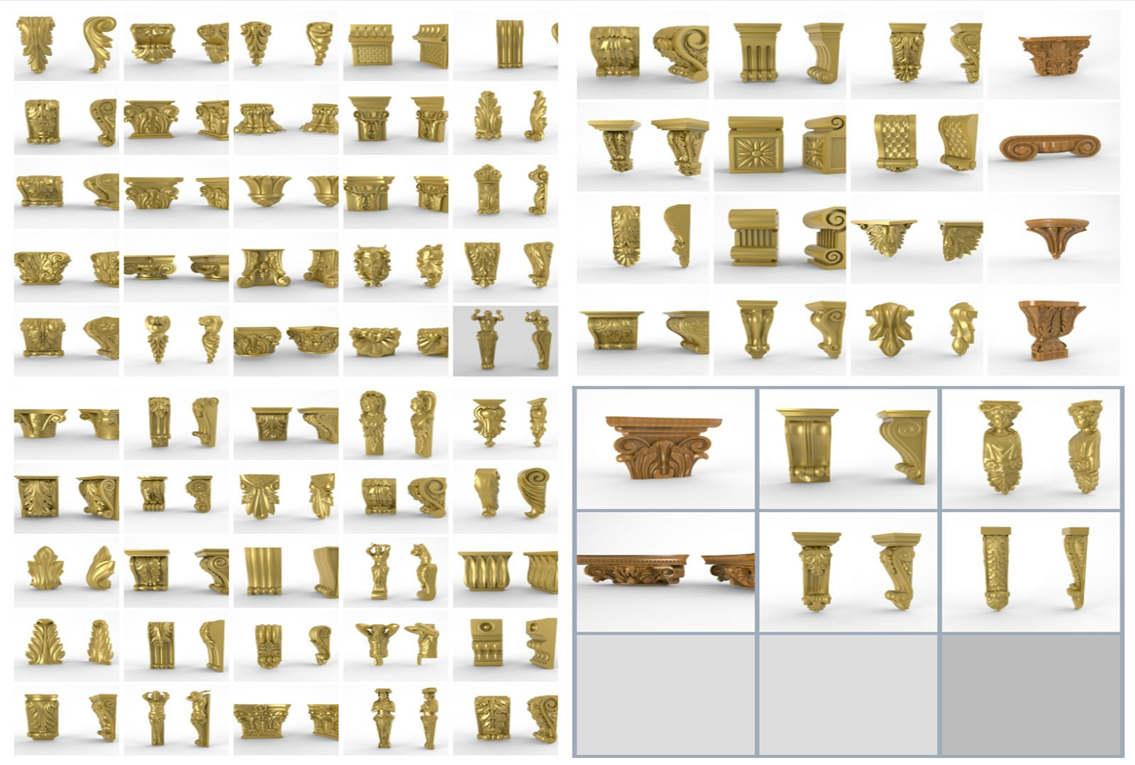 CNC G016 72PC Brackets Collection 3D STL Model