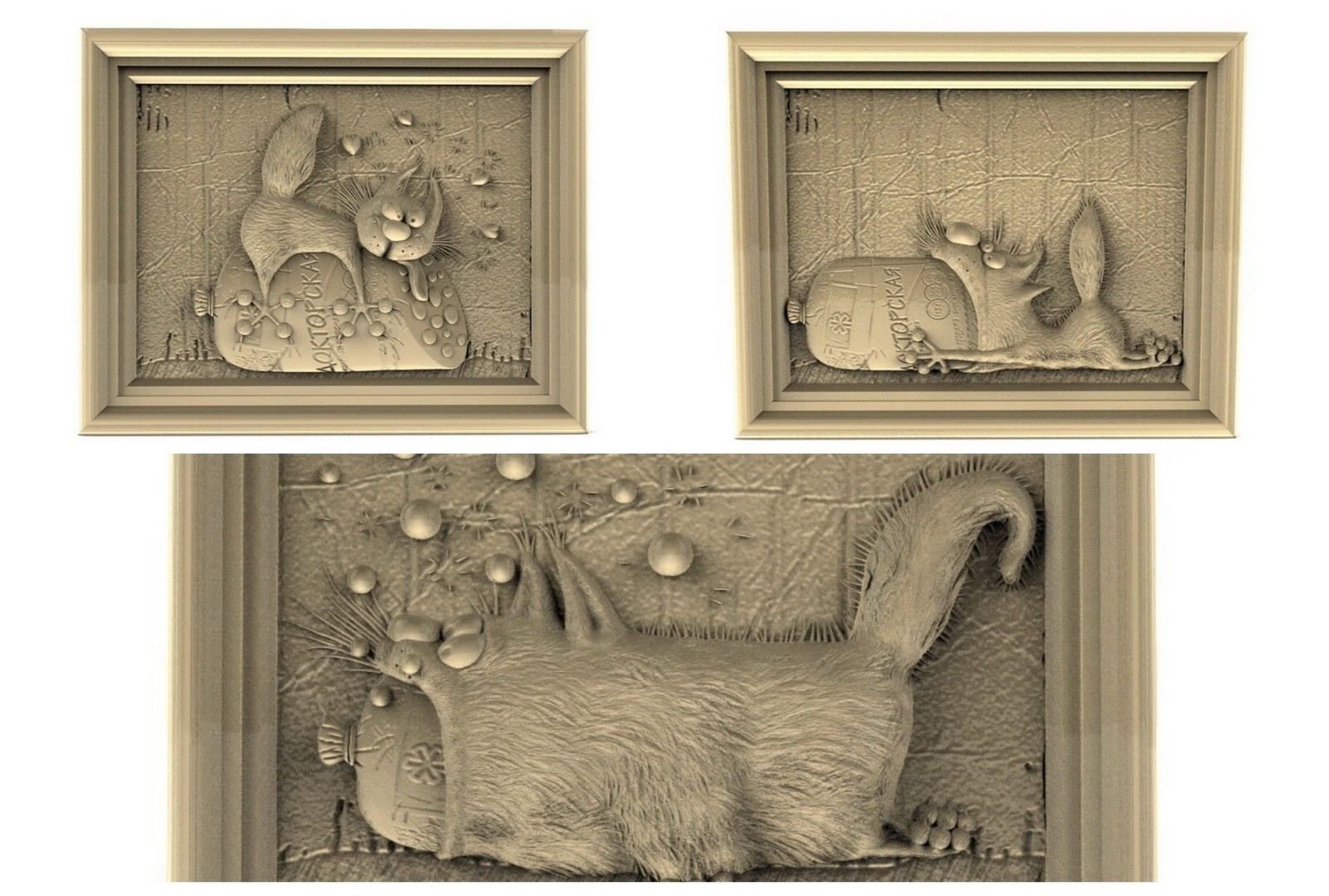 CNC G019 (3PC FunnyCat collection) 3D STL Model