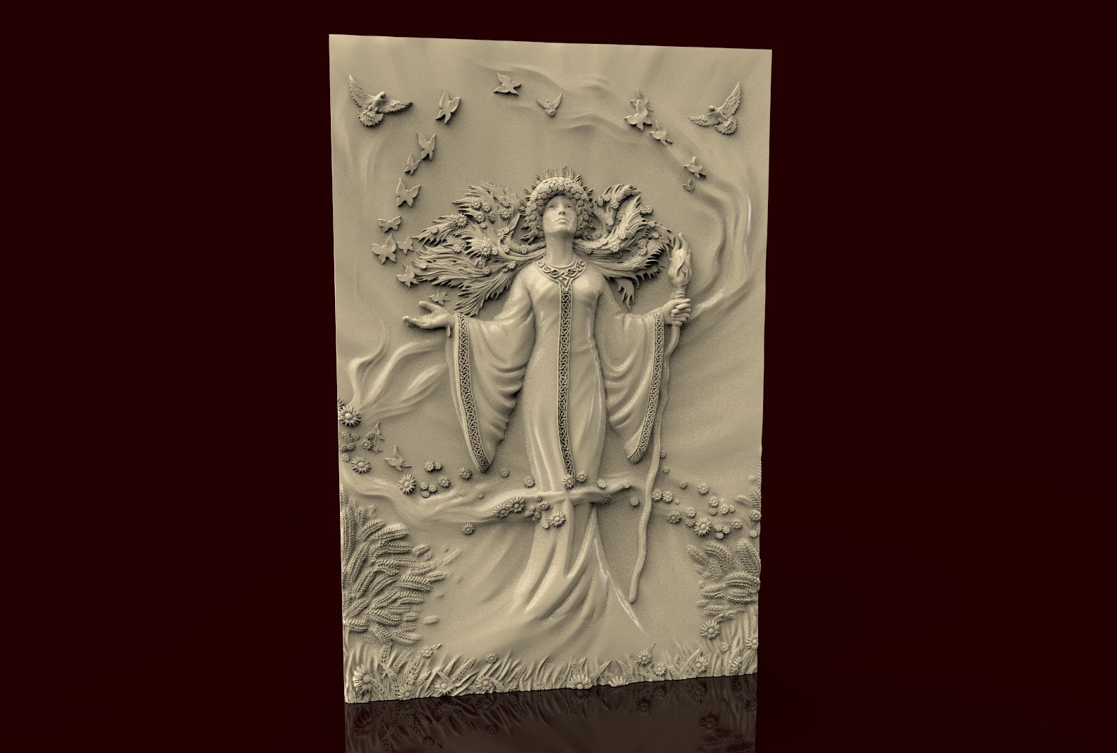 CNC 268 (Ojiganov_Nature Goddess) 3D STL Model