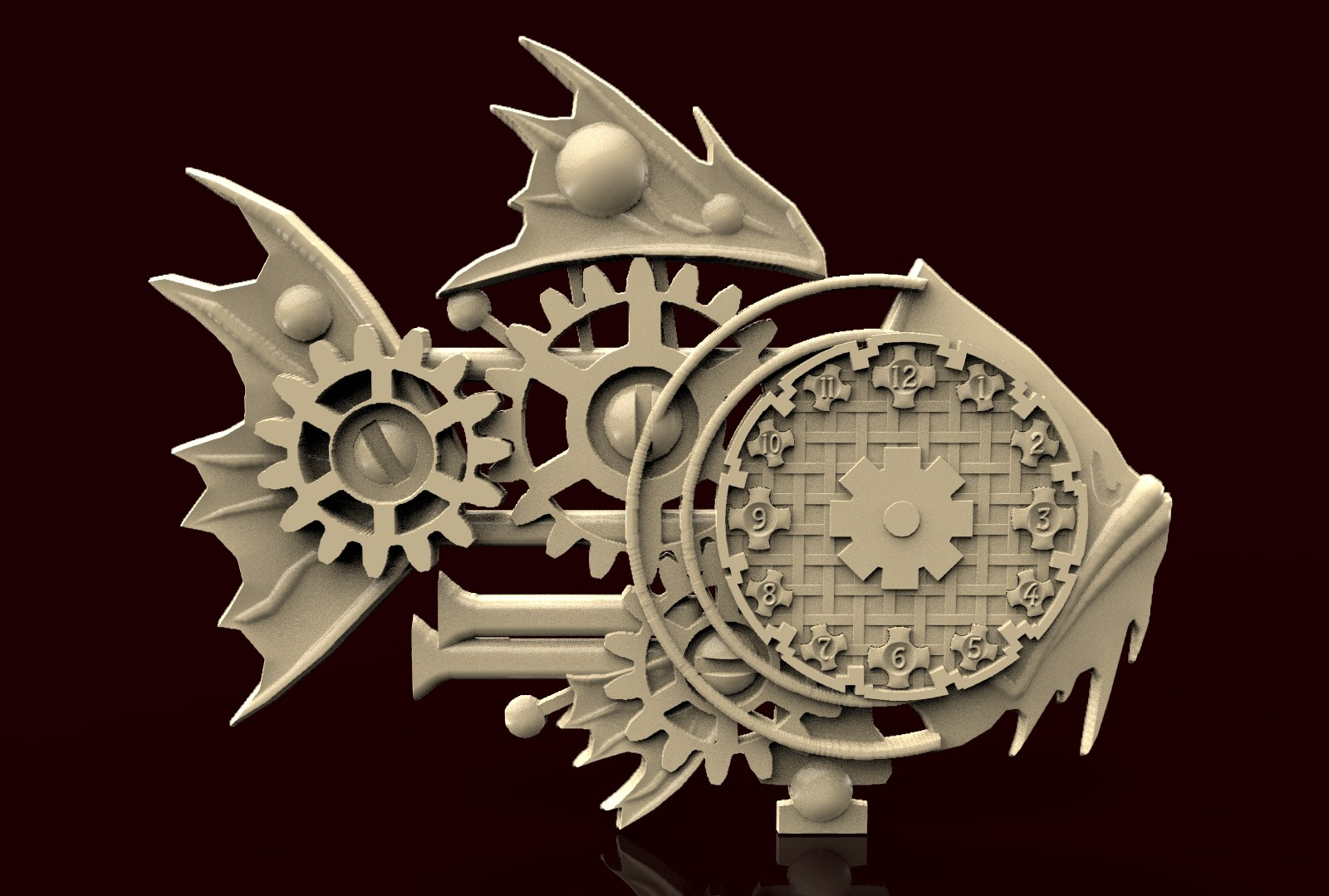 CNC C049 (Techno Fish) 3D STL Model